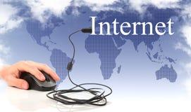Concetto: il Internet e rete globale immagini stock libere da diritti