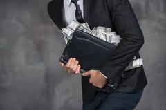 Concetto illegale di transazione di corruzione di finanza dei contanti dei soldi fotografia stock libera da diritti