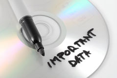 Concetto importante del disco di dati immagine stock