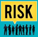 Concetto incerto di debolezza di sicurezza di sicurezza di probabilità di rischio fotografia stock