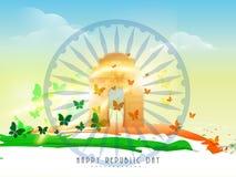 Concetto indiano di celebrazione di giorno della Repubblica illustrazione vettoriale