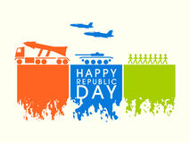 Concetto indiano felice di celebrazione di giorno della Repubblica Fotografia Stock