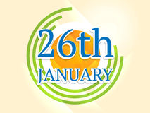 Concetto indiano felice di celebrazione di giorno della Repubblica Immagine Stock Libera da Diritti