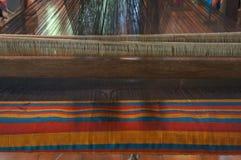 Concetto industriale di arte di tradizione dell'ago fatto a mano di seta della lana Immagine Stock