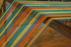 Concetto industriale di arte di tradizione dell'ago fatto a mano di seta della lana Fotografia Stock Libera da Diritti