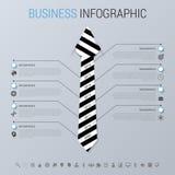 Concetto infographic di affari moderni Uomo d'affari Illustrazione di vettore Fotografia Stock Libera da Diritti