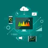 Concetto infographic di presentazione di vendita di Digital Immagine Stock