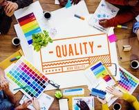 Concetto iniziale di garanzia di esclusiva 100% di marca di alta qualità Immagini Stock