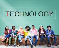 Concetto innovatore di tecnologia di evoluzione dell'innovazione di tecnologia Immagine Stock Libera da Diritti
