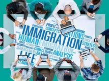 Concetto internazionale della dogana di legge di governo di immigrazione Immagini Stock