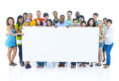 Concetto internazionale delle gioventù del ritratto del gruppo Fotografia Stock Libera da Diritti