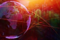 Concetto internazionale di investimento e di affari Fotografia Stock Libera da Diritti