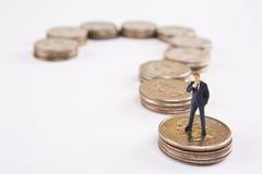 Concetto interrogante finanziario Immagini Stock