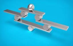 Concetto isolato dell'equilibrio 3D Immagini Stock Libere da Diritti