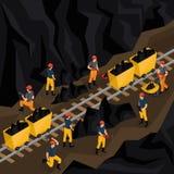 Concetto isometrico di industria carboniera illustrazione di stock