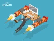 Concetto isometrico piano di vettore di crescita di carriera illustrazione vettoriale