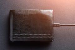 Concetto La borsa è incaricata di soldi con il Ca di carico fotografia stock