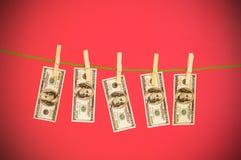 Concetto lavare e di soldi con i dollari immagini stock libere da diritti