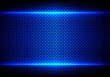 Concetto leggero blu astratto con il fondo del modello di punto Illustra Immagine Stock Libera da Diritti