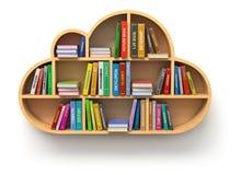 Concetto in linea delle biblioteche Fotografie Stock Libere da Diritti