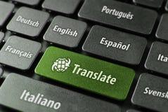 Concetto in linea di servizio di traduzione fotografie stock libere da diritti