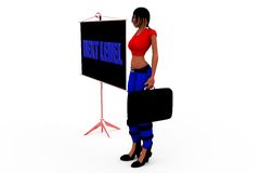 concetto livellato seguente della donna 3d Fotografie Stock Libere da Diritti