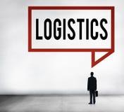 Concetto logistico del trasporto dell'importazione dell'esportazione Immagine Stock Libera da Diritti