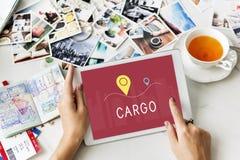 Concetto logistico di spedizione del carico del trasporto di consegna Fotografia Stock Libera da Diritti