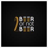 Concetto Logo Design Background della birra Immagine Stock Libera da Diritti