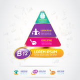 Concetto Logo Gold Kids del calcio e della vitamina di Omega dei bambini Immagini Stock