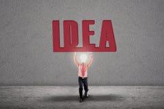 Concetto luminoso della lampadina di idea Fotografia Stock