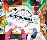 Concetto in maniera fidata di responsabilità di fiducia di affidabilità di responsabilità Fotografie Stock Libere da Diritti