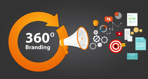 concetto marcante a caldo di strategia 360 Immagini Stock Libere da Diritti