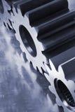 Concetto meccanico in azzurro Immagine Stock