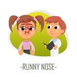 Concetto medico del naso semiliquido Illustrazione di vettore illustrazione vettoriale