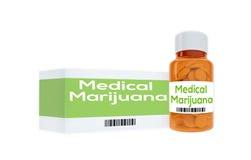 Concetto medico della marijuana Fotografia Stock