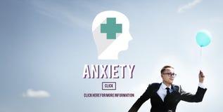 Concetto medico di apprensione di disturbo di ansia Immagini Stock Libere da Diritti