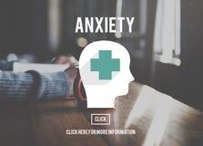 Concetto medico di apprensione di disturbo di ansia Immagine Stock