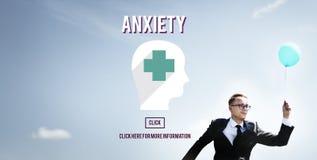 Concetto medico di apprensione di disturbo di ansia Fotografia Stock