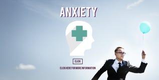 Concetto medico di apprensione di disturbo di ansia Immagini Stock