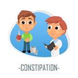 Concetto medico di costipazione Illustrazione di vettore royalty illustrazione gratis