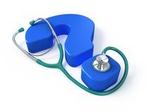 Concetto medico di domanda illustrazione vettoriale