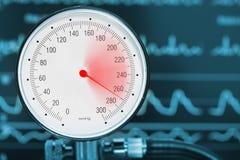 Concetto medico di sistemi diagnostici di ipertensione fotografia stock