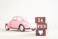Concetto messaggio del 14 febbraio sul bastone Tono d'annata Fotografia Stock