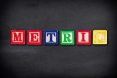 Concetto metrico Fotografie Stock