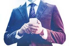 Concetto mobile del dispositivo di rete Immagini Stock