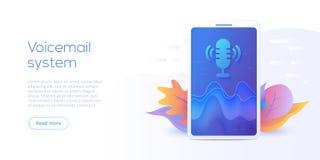 Concetto mobile dell'illustrazione di vettore del sistema di ricerca o di voicemail V royalty illustrazione gratis