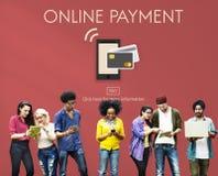Concetto mobile di e-banking del portafoglio di attività bancarie online Fotografia Stock