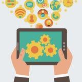 Concetto mobile di sviluppo di app Immagini Stock