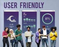 Concetto mobile facile da usare di Apps dell'interfaccia Immagine Stock
